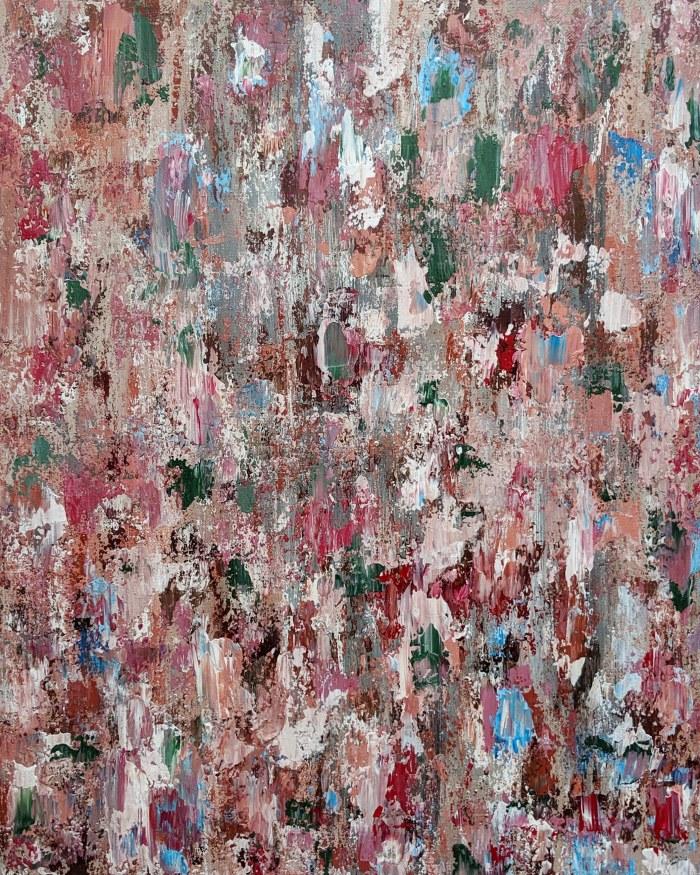 """""""La vie en rose"""", acrylic on canvas, 51 x 41cm, 2019."""