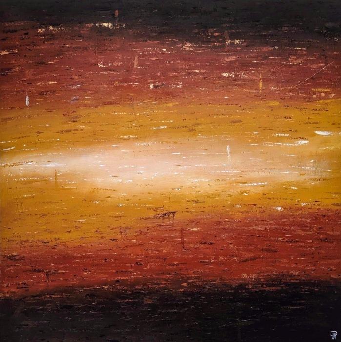 """""""Apollo"""", acrylic on canvas, 30"""" x 30"""", 2019."""